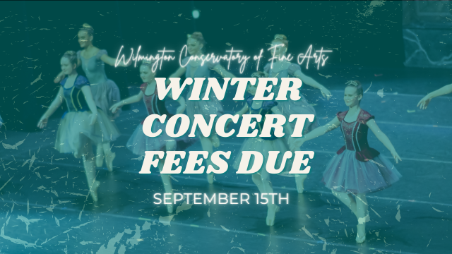 Fall/Winter Concert fees due